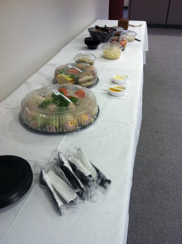Corporate Catering Lunch Spread