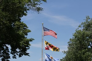 US Flag and MD Flag