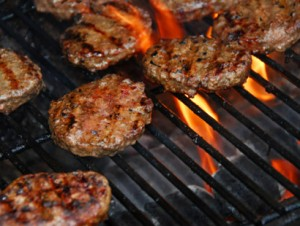 Turkey Burgers Cooked on Grill